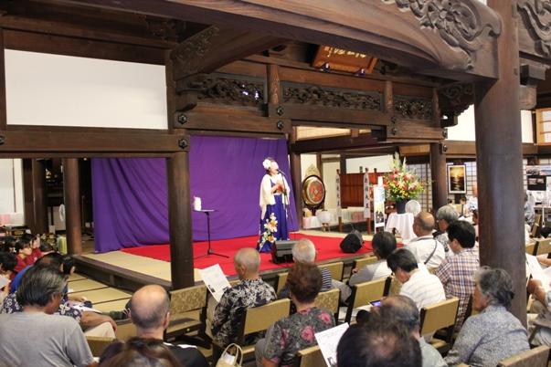 そして私のトーク&コンサート。矢崎節夫先生作詞、ちひろ作曲の「沖家室ふるさとーわたしの島ー」も歌い、拍手はひと際大きかったです。